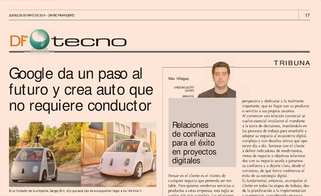 Columna en Diario Financiero 29 mayo 2014