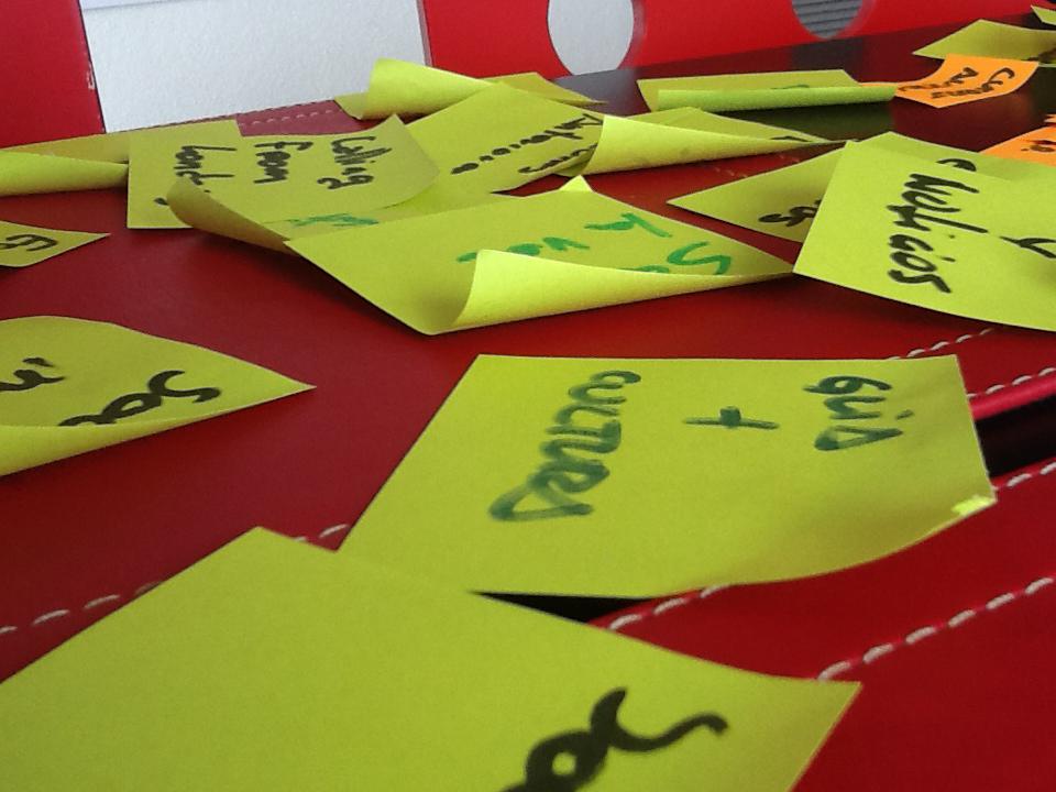creación de tarjetas para card sorting