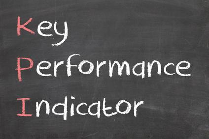 pizarra con las palabras key performance indicator