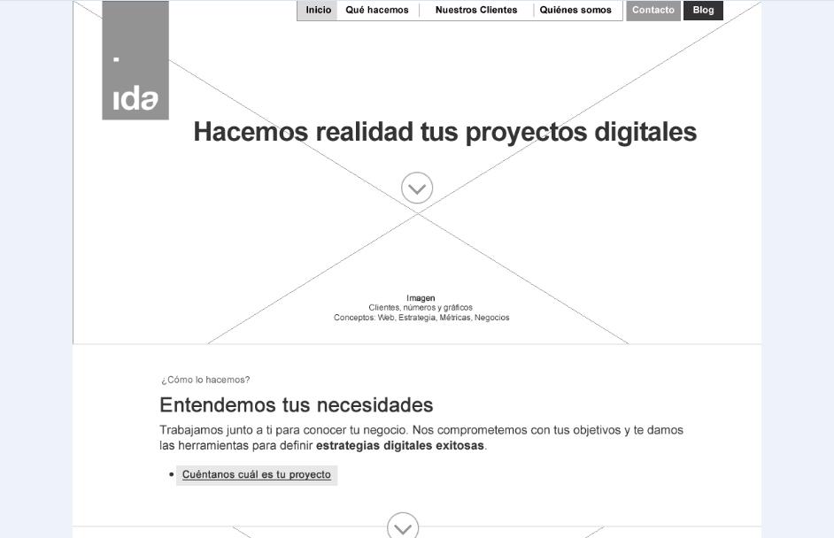 ¿Cómo debes leer wireframes? - Blog IDA Chile | Estrategia para el éxito de tu negocio