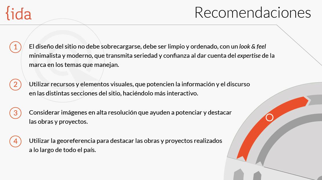 Presentación de las recomendaciones finales derivadas del benchmark