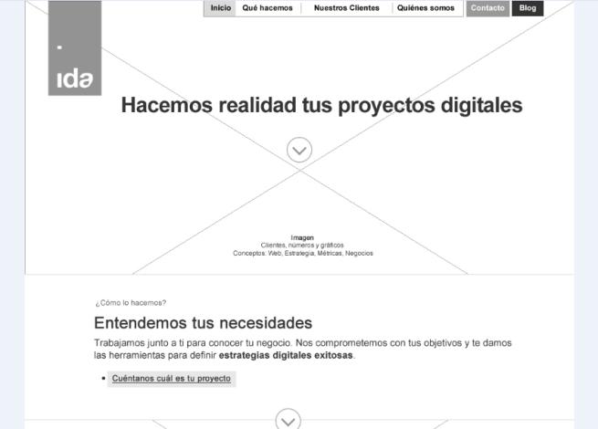 Wireframe digital