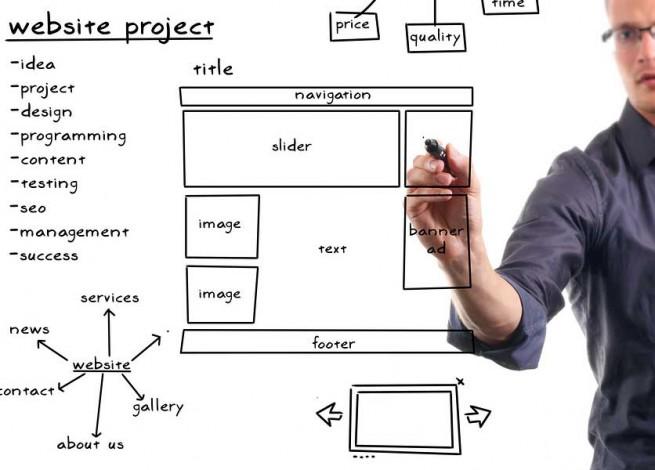 arquitecto de información dibujando wireframes