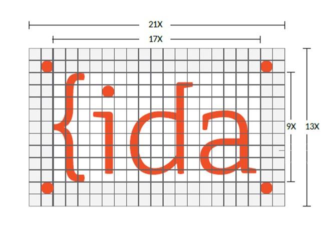 Logo de IDA con sus dimensiones en pixeles