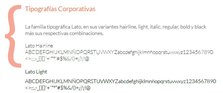 tipografías de IDA