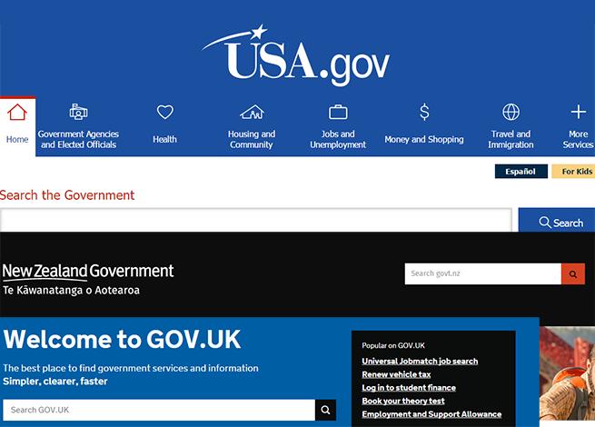 Sitios de gobierno