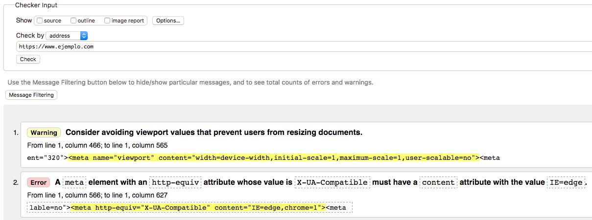 herramienta de validación W3C