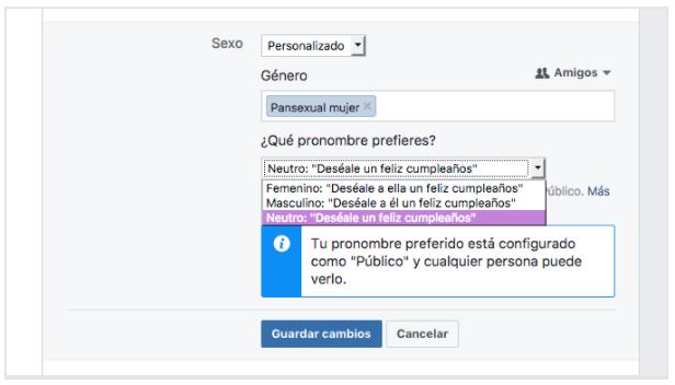 Configuración de perfil en Facebook