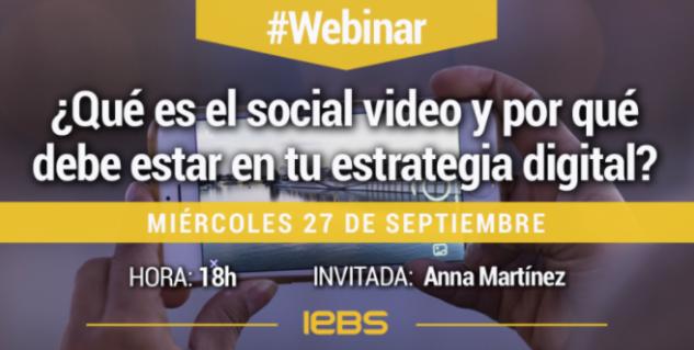 Webinar usos del video en redes sociales para publicidad