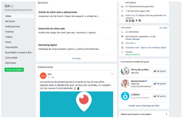 Vista previa de Facebook
