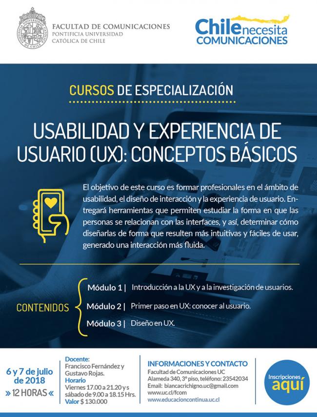 Curso de Usabilidad y Experiencia de Usuario UC
