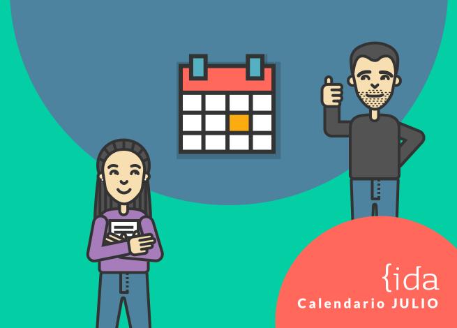 calendario eventos meetups charlas julio