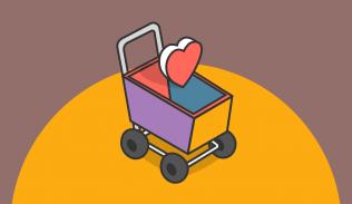 Ilustración para artículo sobre e-commerce y experiencia de usuario