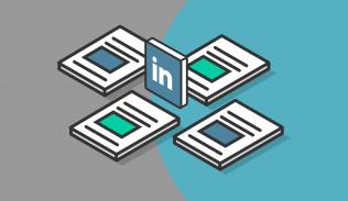 Ilustración para artículo sobre estrategias de contenidos en LinkedIn