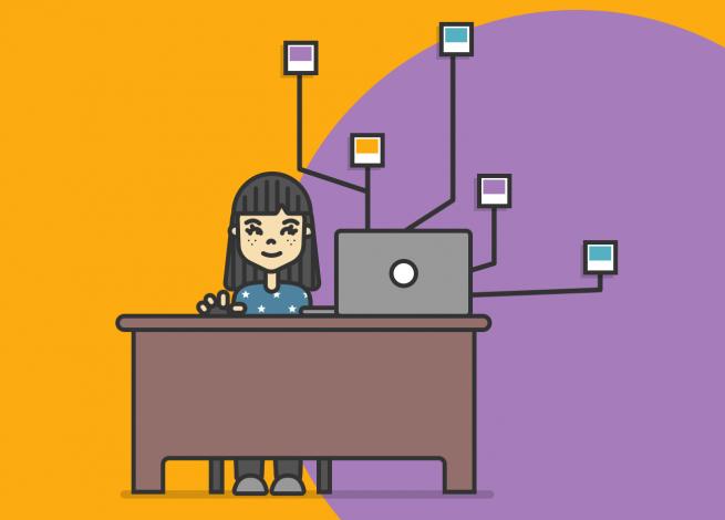 Ilustración para artículo sobre cómo pasar del marketing de contenidos a historias generadas por los usuarios