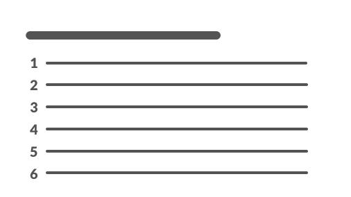 Representación de una lista numerada