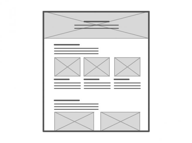 Representación de sitio con imágenes