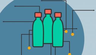 Ilustración para artículo sobre cómo la industria del vidrio ha evolucionado con el diseño de servicios