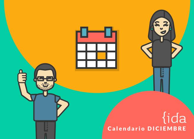 Ilustración para el calendario de eventos de diciembre 2018.