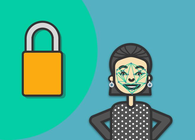 Ilustración para artículo sobre protección de datos y reconocimiento facial
