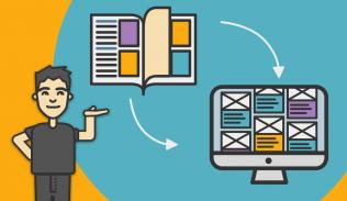 Ilustración para artículo sobre diseño editorial
