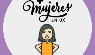 Ilustración para artículo sobre la experiencia de Andrea Zamora en +Mujeres en UX
