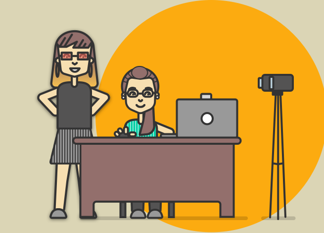 Ilustración para artículo sobre tests de usuario remotos y presenciales.