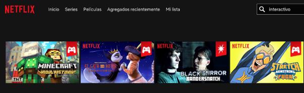 Selección de contenido interactivo en Netflix