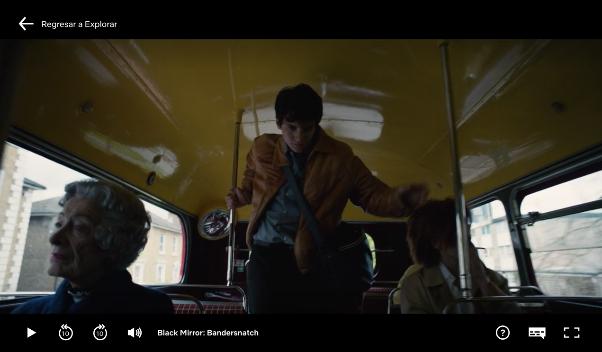 Interfaz de Netflix sin línea de tiempo en Bandersnatch