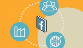 Ilustración para artículo sobre los 15 años de Facebook
