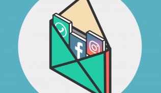 Ilustración para artículo sobre la integración de Facebook, Whatsapp e Instagram