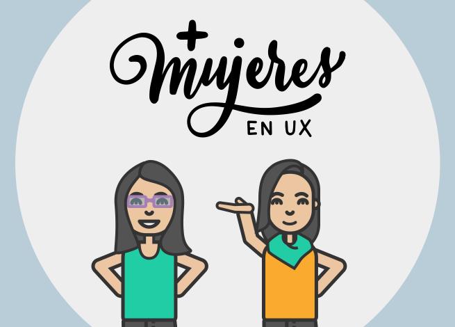 Ilustración para artículo sobre + Mujeres en UX Perú
