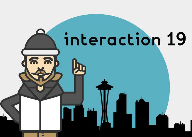 Ilustración para artículo sobre la semana del diseño de interacción 2019