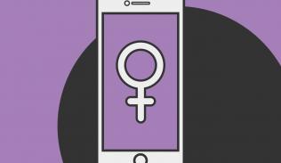 Ilustración para artículo sobre Absher, aplicación en conflicto con los derechos de las mujeres