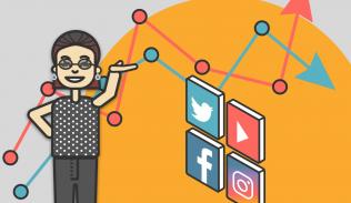 Ilustración para artículo sobre métricas de Redes Sociales