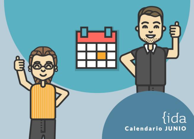 Calendario, junto a dos personas positivas