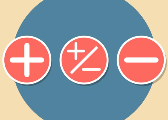 signos de medición, dentro de un circulo azul.