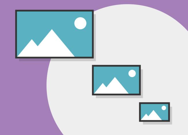 Imágenes en diferentes tamaños, ordenadas de menor a mayor.