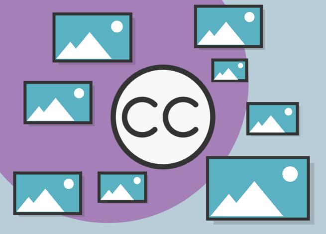 Imágenes al rededor de el símbolo de creative commons.