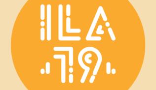 """Título """"ILA19"""" sobre un circulo amarillo."""