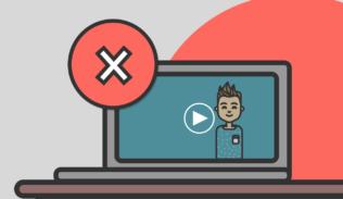 En una pantalla de computador, se observa un video que posee una equiz encima.