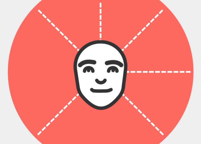 Una cara feliz, dentro de un círculo naranjo.
