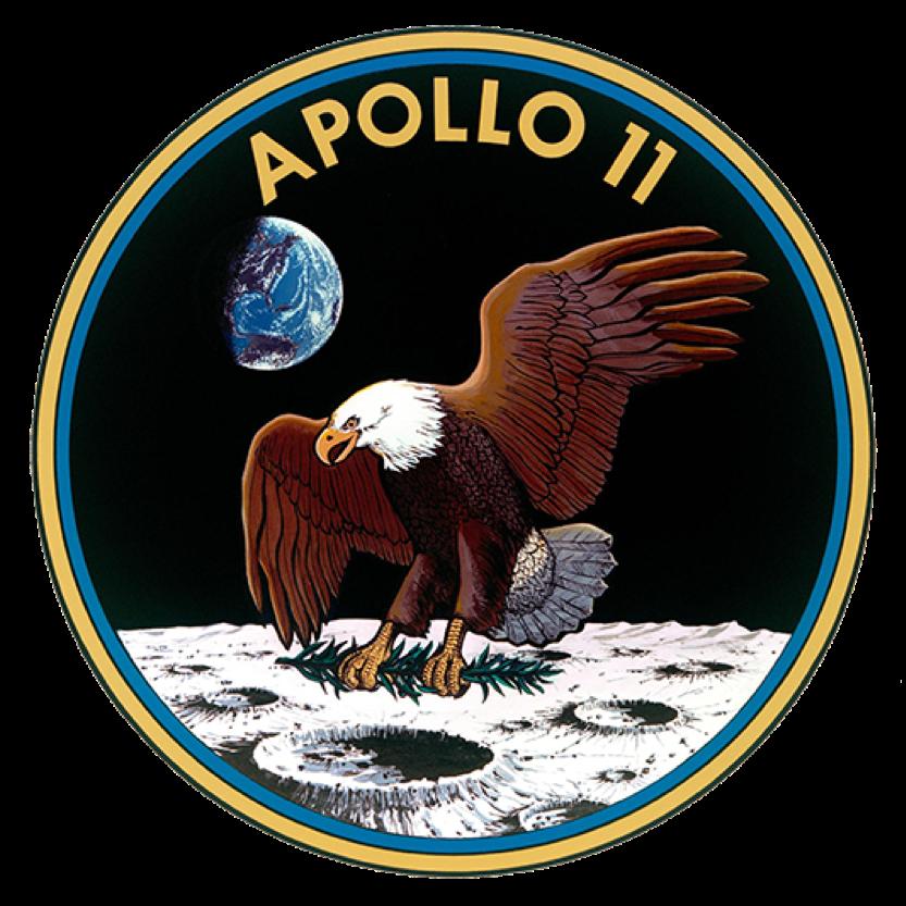 Logo oficial del Apollo 11 - Imagen oficial de la NASA.
