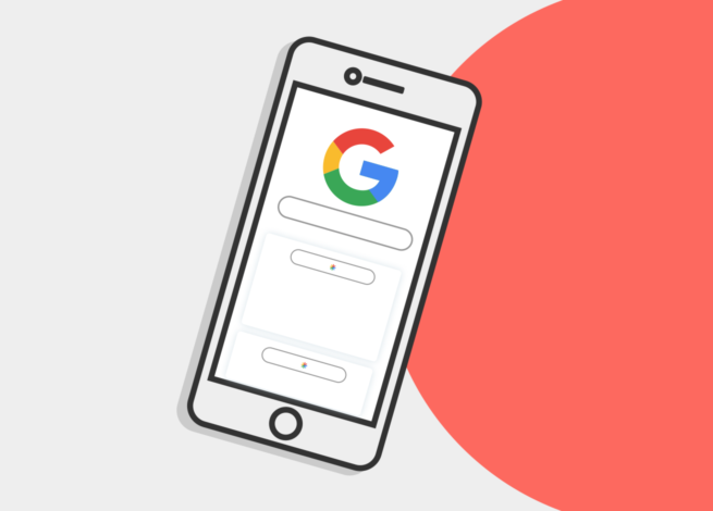 Celular buscando el Google.