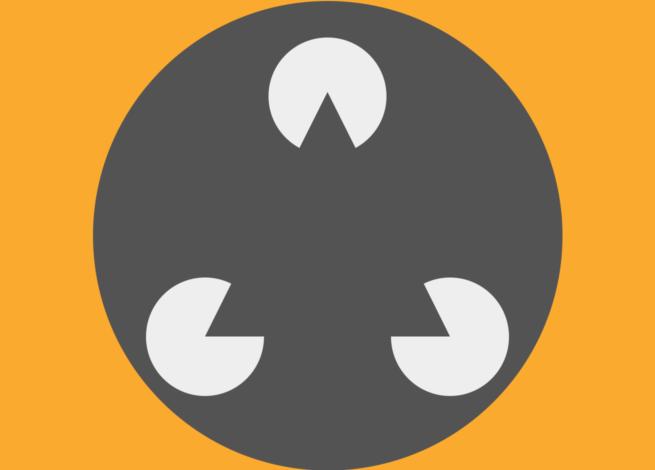 Varias figuras dentro de un círculo, provocan que apliquemos la Ley de Prägnanz.