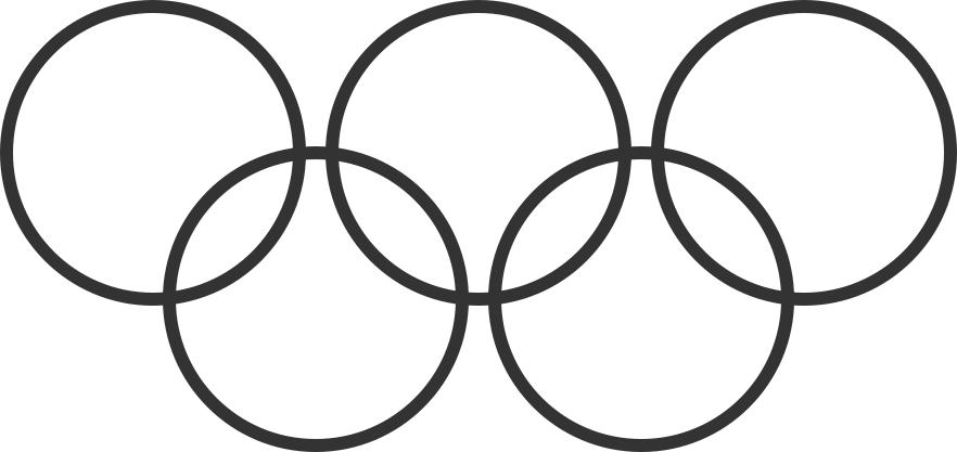 El logo de las Olimpiadas es una muestra de cómo se cumple la Ley de Pragnanz.