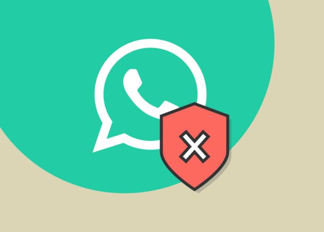 Whatsapp ante una x de inseguridad.