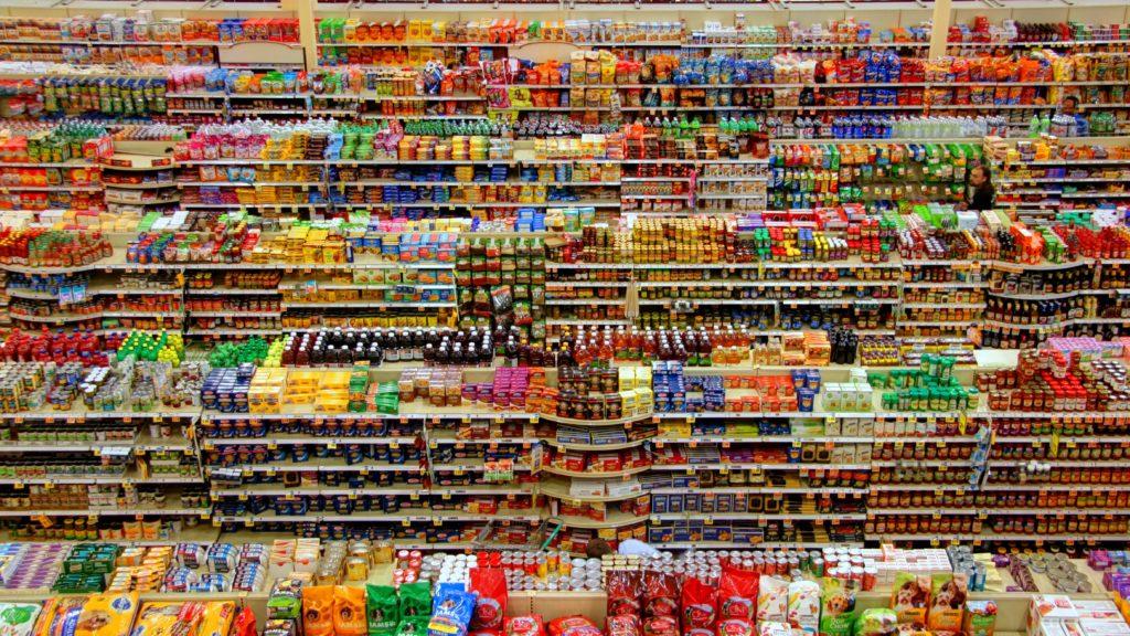 Gondola de supermercado representa el caos de la Ley HickHyman.