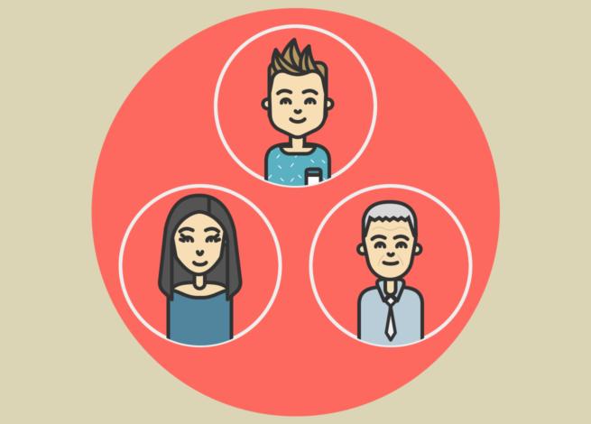 Diferentes usuarios en el ecosistema digital, con un comportamiento positivo.