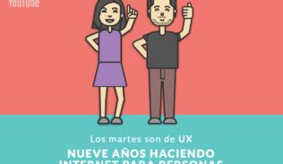 """Andrea Zamora y Max Villegas presentan """"Nueve años haciendo internet para personas"""", en Los Martes son de UX."""